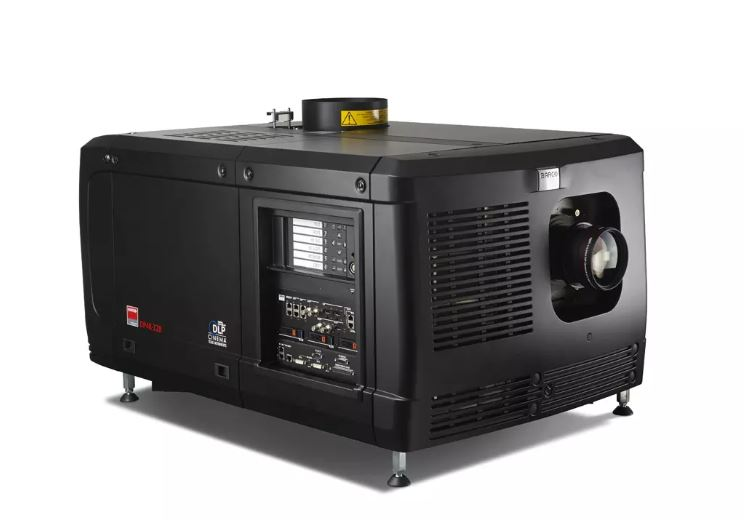 What kind of projectors do movie theaters use?