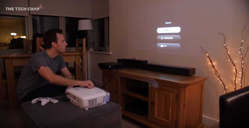 how to set up a projector to watch tv