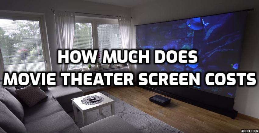 how much does a movie theater screen cost